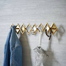 Brass Wall Coat Rack Geo Hook Rack West Elm 91