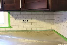 grout is messy be sure to use plastic cover and tape