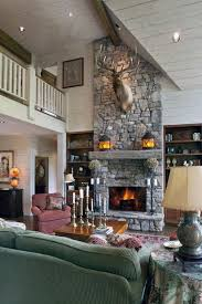 living room ideas stone fireplace design