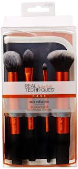 amazon real techniques core collection hand cut hair design makeup brush set includes detailer pointed foundation buffing and contour brushes