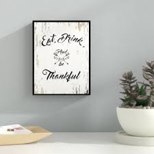 eat drink be thankful happy framed textual art on canvas on eat drink be happy wall art with eat drink be merry wall art wayfair