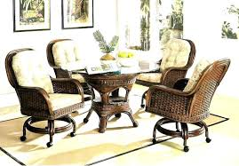 dining room chairs with casters dining room chairs with casters caster rattan and wicker dining set kingdom in room chairs with wheels decor 3 dining room