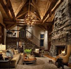 Warm Cozy Living Room Decorations Warm Living Room With Rustic Stone Walls Also