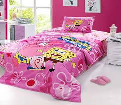 Pink spongebob twin full bedding set girls duvet cover Kids ... & Pink spongebob twin full bedding set girls duvet cover Kids cartoon 100  Cotton quilt cover bed Adamdwight.com