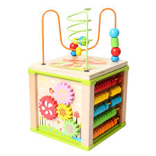 multifunction kids wooden toys wooden block 5 in 1 educational toy