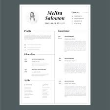 Modern Resume Format Extraordinary Creative Resume Template In Microsoft Word Cv With Modern And