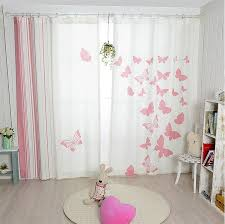 aliexpress new korean pink erfly blackout curtains childrens bedroom blackout curtains