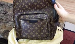 louis vuitton backpack. louis vuitton unboxing - josh backpack monogram canvas macassar leather