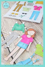 Who knew there were so many different ways to have fun with paper. Printable Paper Doll Templates Color And Play The Kitchen Table Classroom