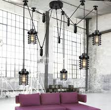 loft industrial iron cage. Loft Industrial American Retro Leisure Coffee Shop Hotel Bar Clothing Store Wrought Iron Cage Pulley Droplight-in Pendant Lights From \u0026 Lighting On S