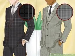 Suit Pattern Gorgeous How To Wear A Patterned Suit 48 Steps With Pictures WikiHow