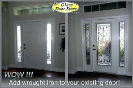 iron and glass front doors wrought iron added to the front door inside wrought iron and glass front entry doors