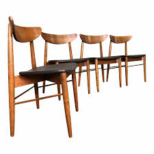 stanley mid century danish modern dining chairs set 4 concept of modern walnut dining chairs