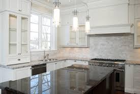 Kitchen With White Cabinets Kitchen Fascinating White Kitchen Backsplash Ideas Lovely White
