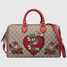 gucci 409527. limited edition gg supreme top handle bag with embroideries - gucci monogramming 409527k8kcg9789 409527
