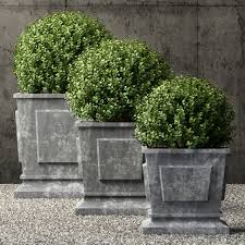 restoration hardware estate zinc paneled planters 3d model