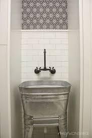 galvanized wash tub laundry room sink