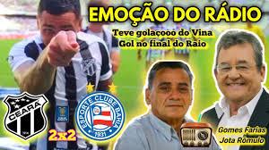 EMOÇÃO DO RÁDIO - Ceará 2 x 2 Bahia || Copa Do Nordeste 2020 || Narração: Gomes  Farias/Jota Rômulo - YouTube