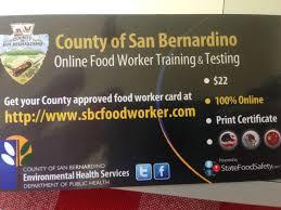 food handlers card san bernardino