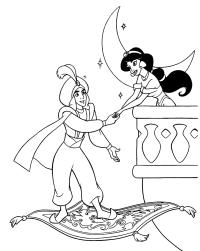 Genio Di Aladdin Disney Disegno Da Colorare