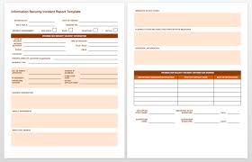 Blankcident Report Form Template Employee Free Templates