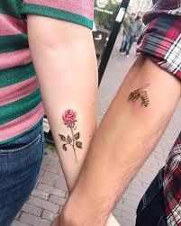 Lena Fedchenko Flower And Bee Tattoo Tatuaż Tattoos Couple