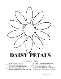Small Picture Daisy Girl Scout Coloring Pages Free Free Printable Coloring