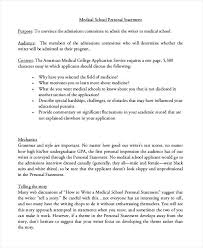 Medical School Essays 7 Personal Statement Examples Medical School Irpens Co