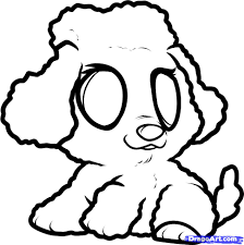 Small Picture How to Draw a Poodle Puppy Poodle Puppy Step by Step Pets