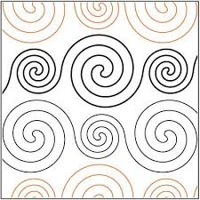 157 best Quilting Pantos images on Pinterest | Longarm quilting ... & Spirals Large and Small Paper Pantograph 4