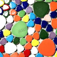 colored tiles for mosaic free rainbow colorful pebble ceramic mosaic colored floor tile grout multi
