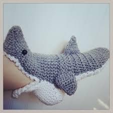 Crochet Shark Slippers Pattern Free Enchanting Crochet Shark Slipper Socks 4848 Free Shipping Things I Love