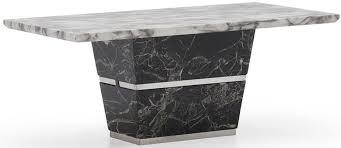 vida living valdina white and black marble coffee table