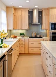 Maple Flat Front Cabinets Modern Kitchen Decor In 2019 Maple
