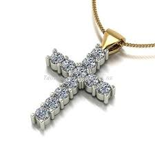 moissanite women s 9ct gold cross chain necklaces 34558674