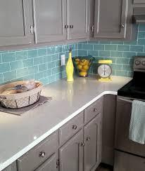 Blue Green Kitchen Cabinets Green Glass Tile Kitchen Backsplash Inspirations Home Furniture