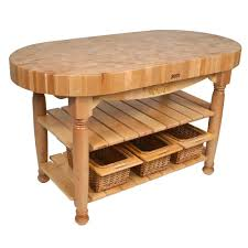 Butcher Block Kitchen Tables Kitchen Islands Tables Oval Maple Top Kitchen Island With
