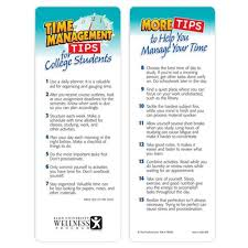 time management tips for college students bookmark time management tips for college students bookmark personalization available