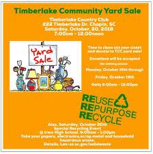 Timberlake Community Yard Sale Timberlake Country Club