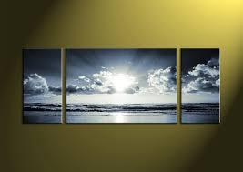 black and white prints canvas wall art sea wall art sea artwork on sunset wall art canvas with 3 piece black and white canvas ocean sunset wall art