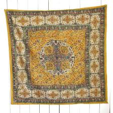 hand painted tapestry antique fabric wall hanging mustard yellow blue 80 liked on polyvore featuring home home decor wall art mustard ye  on antique cloth wall art with hand painted tapestry antique fabric wall hanging mustard yellow