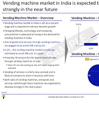 Vending Machine Industry Trends Mesmerizing Vending Machine Market In India 48 Sample