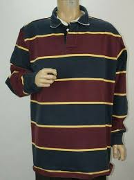 details about vintage mens ll bean heavy cotton color block striped rugby shirt size xl tall