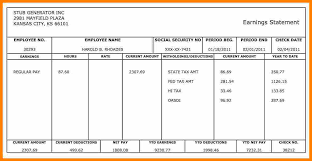 paystub sample 7 make a paycheck stub free pay stub format