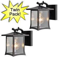 oil rubbed bronze outdoor patio porch exterior light fixtures twin pack 73475