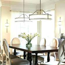 dining area lighting small room light fixture fixtures long chandelier for table height above dinin