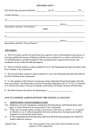 When to use a business partnership agreement. 21 Free Partnership Agreement Templates Ms Office Documents