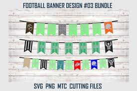 Designer Bunting Football Party Banner Bunting Design 03 Svg Cut File Bundle