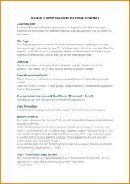 12 Templates For Sponsorship Proposals Proposal Resume