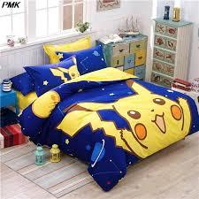 pokemon duvet set cotton cartoon bed linens duvet covet set kids bedding set twin queen size